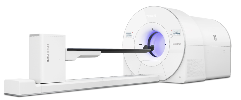 A depiction of the completed uEXPLORER scanner to be installed at UC Davis Health in April 2019.